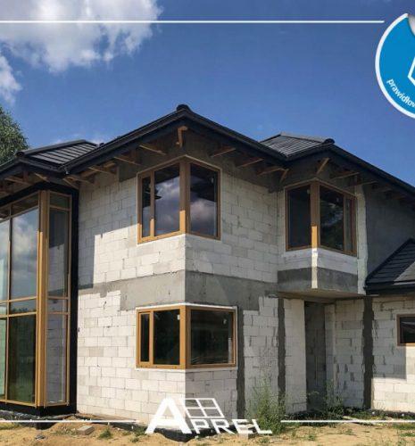 Fasada aluminiowa AdamS oraz okna PCV