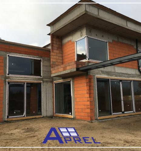 Montaż panoramicznych okien aluminiowych Aliplast – Babice k/Warszawy